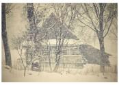 Než parta vyprahlá k hospůdce dojela, chalupa nešťastná pod sněhem zmizela